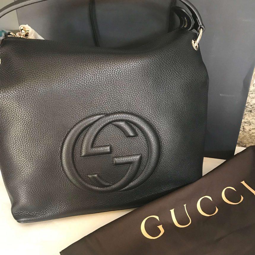 9ef85c9157c NEW 100% Authentic GUCCI Black Soho Hobo Leather Shoulder Bag 536194 ...