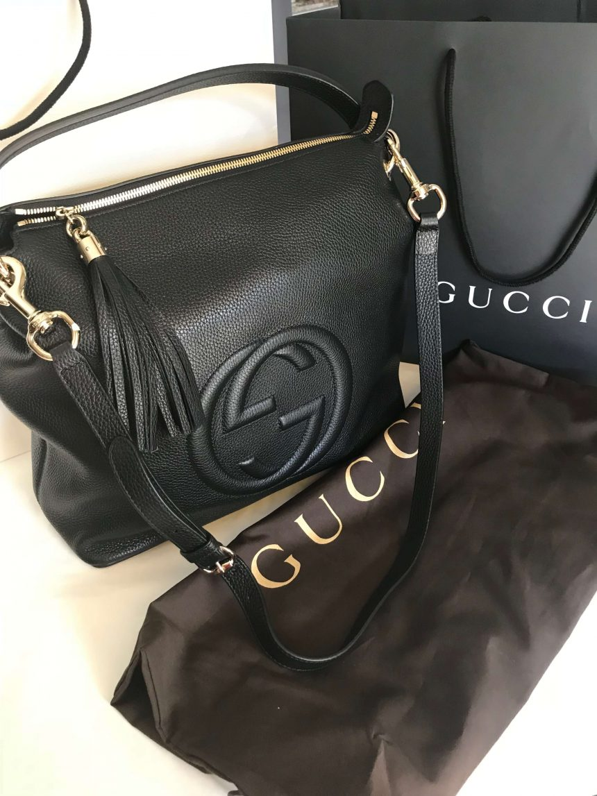 9ef85c9157c NEW 100% Authentic GUCCI Black Soho Hobo Leather Shoulder Bag 536194 ...