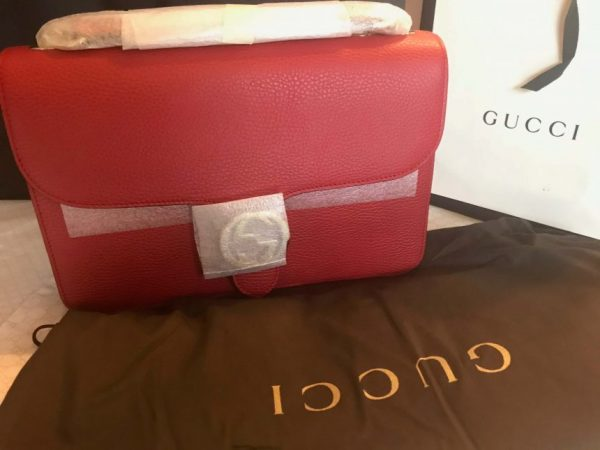 ceeae5d16f4f 100% Authentic GUCCI RED Leather Shoulder Bag Style 510303 - Lowest Price  Merchant